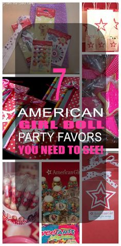 7 Amazing American Girl Doll Party Favors for kids. Your child will love these unique, fun, and cute american girl doll party favors.