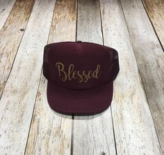 Blessed Script Trucker Hat