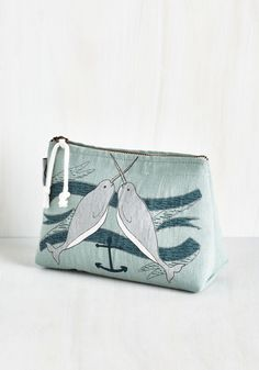 Give It Your Narwhal Makeup Bag, #ModCloth