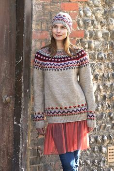 Fair Isle Knitting, Knitting Yarn, Knitting Patterns, Crochet Patterns, Pullover, Knit Crochet, Tunic Tops, Sewing, Clothes