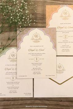 Peacock Wedding Invitations, Indian Wedding Invitation Cards, Traditional Wedding Invitations, Luxury Wedding Invitations, Printable Wedding Invitations, Invitation Ideas, Wedding Stationery, Hindu Wedding Cards, Arab Wedding