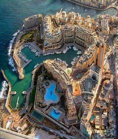 An impressive bird's-eye view of Portomaso at St Julian's, Malta