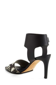 VINCE. Antonia Snake Embossed Leather Sandal