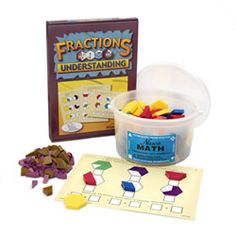 The use of pattern blocks, including the expanded pattern block set to teach fractions.