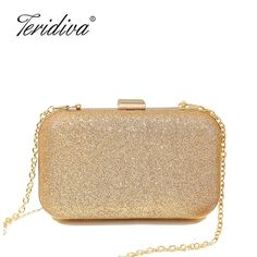 Thinkthendo 2018 New Women Evening Shoulder Bag Bridal Clutch Party Prom Wedding Handbag Metal Chain Strap Luxury Design Bags Rich And Magnificent Women's Bags