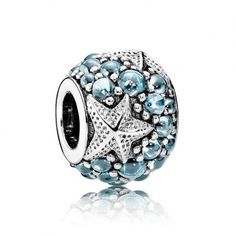 621e1becc Authentic Pandora Oceanic Starfish Frosty Mint CZ Charm, Fully Stamped