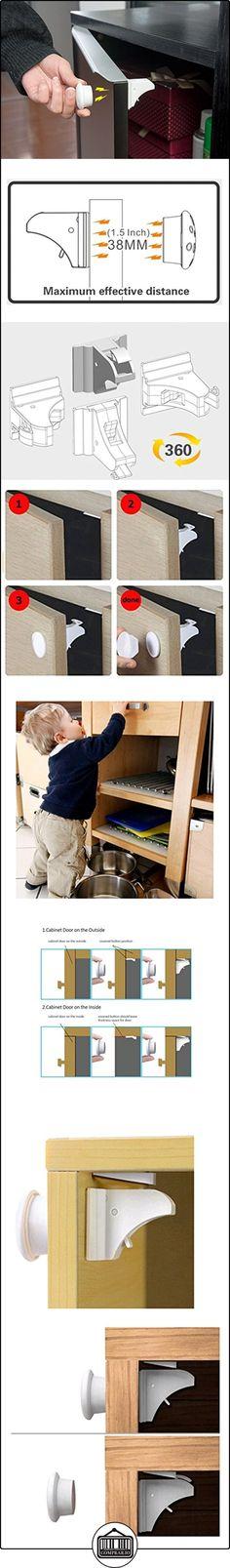 Juego de 4Cerraduras + 1seguridad prueba de llaves magnético Baby-adhesivo 3m adhesivas para armarios drawers- sin tornillos, sin necesidad de agujeros  ✿ Seguridad para tu bebé - (Protege a tus hijos) ✿ ▬► Ver oferta: http://comprar.io/goto/B01N8WNR5T