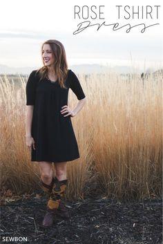 Rose T-Shirt Dress by Blank Slate Patterns sewn by Sewbon.com