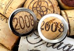 Vintage 2008 Wine Cork Custom Cufflinks  Recycled Wine Cork Cufflinks  for Men - Great Anniversary gift by TheCraftyRascal, $50.00