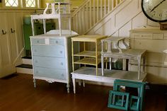 Shabby Chic Furniture on the CHEAP! {Make Your Own Annie Sloane Chalk Paint}