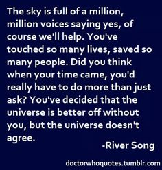 The sky is full of a million, millipn voices...