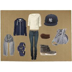 cute way to wear my yankees hat! created by tatietolliver on Polyvore  Yankees Hat ef253cfd42f
