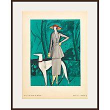 The Courtauld Gallery, Gazette Du Bon Ton - No4 1921 La Dame au Lévrier Print, 50 x 40cm  Online at johnlewis.com