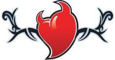 Tribal Devil Heart Temporary Tattoo