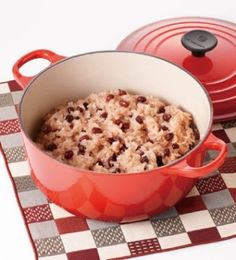 「[ル・クルーゼ公式] おいしいお赤飯の炊き方」お赤飯をおいしく簡単に炊き上げるためのレシピです。【楽天レシピ】