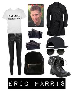 """Eric Harris"" by doctor-who-noob ❤ liked on Polyvore featuring Yves Saint Laurent, Coach, Les Cinq and Ray-Ban"