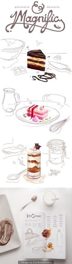 Patisserie desserts Magnific Delicious design!