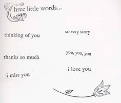 Three Little Words Index