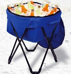 Collapsible Drinks Cooler with Stand and Carrying Case, $24.99