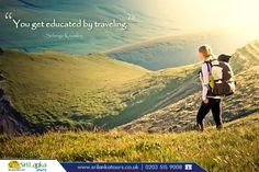 """Travel Quote:  """"You get educated by traveling. """" - Solange Knowles     