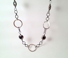 Gunmetal Necklace // Long Necklace // Gray Beads by MynisaUnique, $23.99