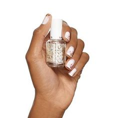 icy tips by essie - top your creamy white tips with flecks of crystal glimmer for nail art that's the ultimate in wintry sophistication.