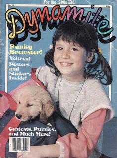 Punky Brewster graces the cover of a 1986 issue of Dynamite.