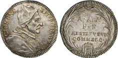 NumisBids: Numismatica Varesi s.a.s. Auction 65, Lot 822 : CLEMENTE XII (1730-1740) Giulio A. VI, Roma. Munt. 83 Ag g...
