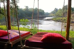 Hanging beds by the mara river... www.houseinthewild.co.ke