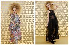 Chanel The Spirit of the Cruise 2014-2015 Collection - Dubai United Arab Emirates UAE - Dovetail Sequins 3D Embellishment Flowers Florals Wide Leg Trousers Palazzo Pants Mummy Wrap Bandage Wrap Fringes Harem Pants Blouse Tweed Checks Tunic Print Motif Dress Sheer Chiffon Peek-A-Boo Fabric