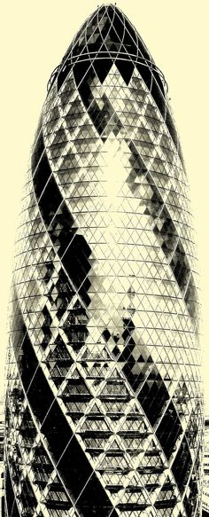 30 St. Mary Axe From one of the lifts at the end of the Lloyds Building, during Open House weekend.