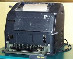 Mid-20th century Teleprinter, this was the most common machine used in N. America (c.1937-60). #FromSciTechMuseum