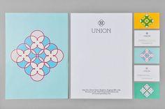 Union / identity design by Red Design. Identity Design, Brand Identity, Design Agency, Visual Identity, Corporate Design, Corporate Identity, Creative Review, Red Design, Design Art