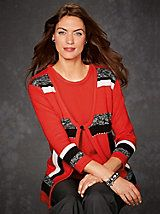 Color block sweater dress haband