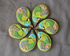 Henna peacock cookies. Amazing