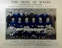 Cardiff City team group in 1921.