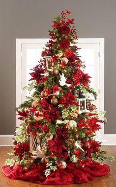 Poinsettia Christmas tree.