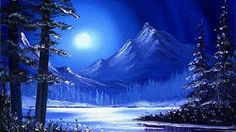 Moonlit Waters / Small & Simple Oil Painting Sketch - YouTube