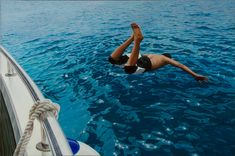 First Dive Oil on canvas 100x150cm