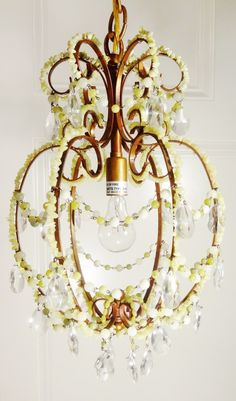 Chartreuse Chandelier by Isle of Ginger and Light