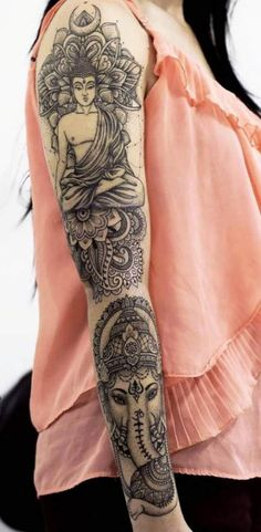 Tattoo Buddha Tattoo Ganesha Tattoo Mandala - Tattoo Buddha Tattoo Ganesha Tattoo Mandala You are in the right place about Tattoo Buddha Tattoo Ga - Ganesha Tattoo Mandala, Mandala Tattoo Sleeve, Tattoo Henna, Full Sleeve Tattoos, Forearm Tattoos, Ganesha Art, Ganesha Tattoo Sleeve, Yogi Tattoo, Mandala Tattoo Meaning