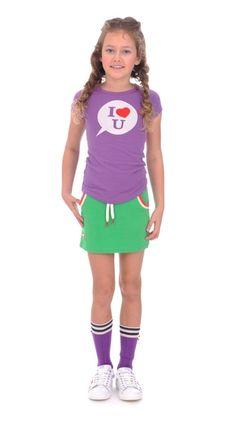 T-shirt Transfer bedrukt Met vaste opdruk - Brand for Girls