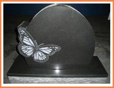 Headstone Designs | Cemetery Monuments Butterfly Design Custom Headstone | eBay