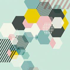 Canvas Print - Geometric Mint (60x60cm) - hardtofind.