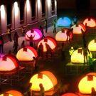 tents, colour