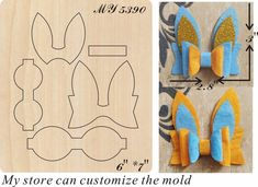 accessories template Bunny ear Hair Bow cutting dies,rabbit wood die cut Mold accessories for Leather,paper,felt,leather crafts,Sizzix Big Shot Compatible Diy Hair Bows, Making Hair Bows, Diy Bow, Felt Crafts, Diy Crafts, Paper Crafts, Card In A Box, Bow Wood, Bow Template
