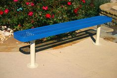 """Rectangular Bench w/o Back - Expanded Metal- MyTCoat's Rectangular Bench w/out Back - Expanded Metal features:  3/4″ 9 Expanded Metal Diamond Pattern 3/4″ x 2″ Angle Iron Outer Frame 1-1/2"""" x ¼"""" Flat Steel Inside bracing 2-3/8″ Round Tubing Frame Material 2″ x 2″ Angle Iron Frame Bracing Different mounting options: portable, surface, and in-ground Comes in 6', 8', 10' (2 - 5' sections), or 15' (2 - 7.5' sections) 1″ Round Tubing Diagonal Braces for Portable Benches"""
