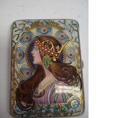 art nouveau enamel cigarette case - Google Search