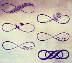 infinity, tattoo, and bird image music feather heart rose