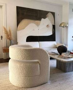 Interior design living room - The Fabric I Historically HATED is Making a Comeback Is Boucle the New It Fabric – Interior design living room My Living Room, Living Room Interior, Home Interior, Home And Living, Interior Architecture, Living Room Decor, Interior Decorating, Bedroom Decor, Bedroom Wall